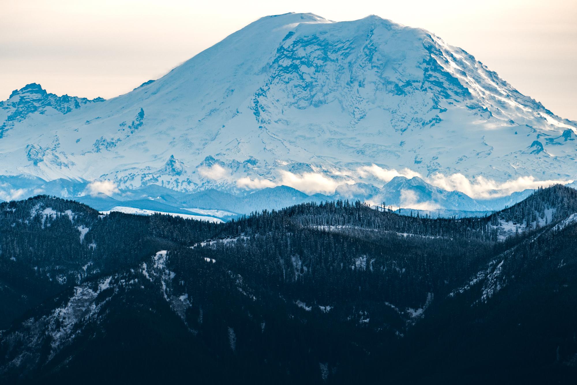 Mt. Rainier as seen from Mt. Si.