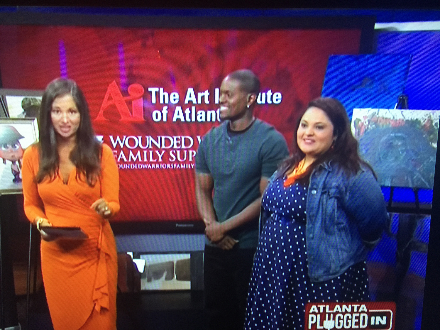 Atlanta Plugged In (CBS46) - Joshua Leonard and colleague Bianca Simmons speaking about the Wounded Warrior Gala at The Art Institute of Atlanta in 2016.