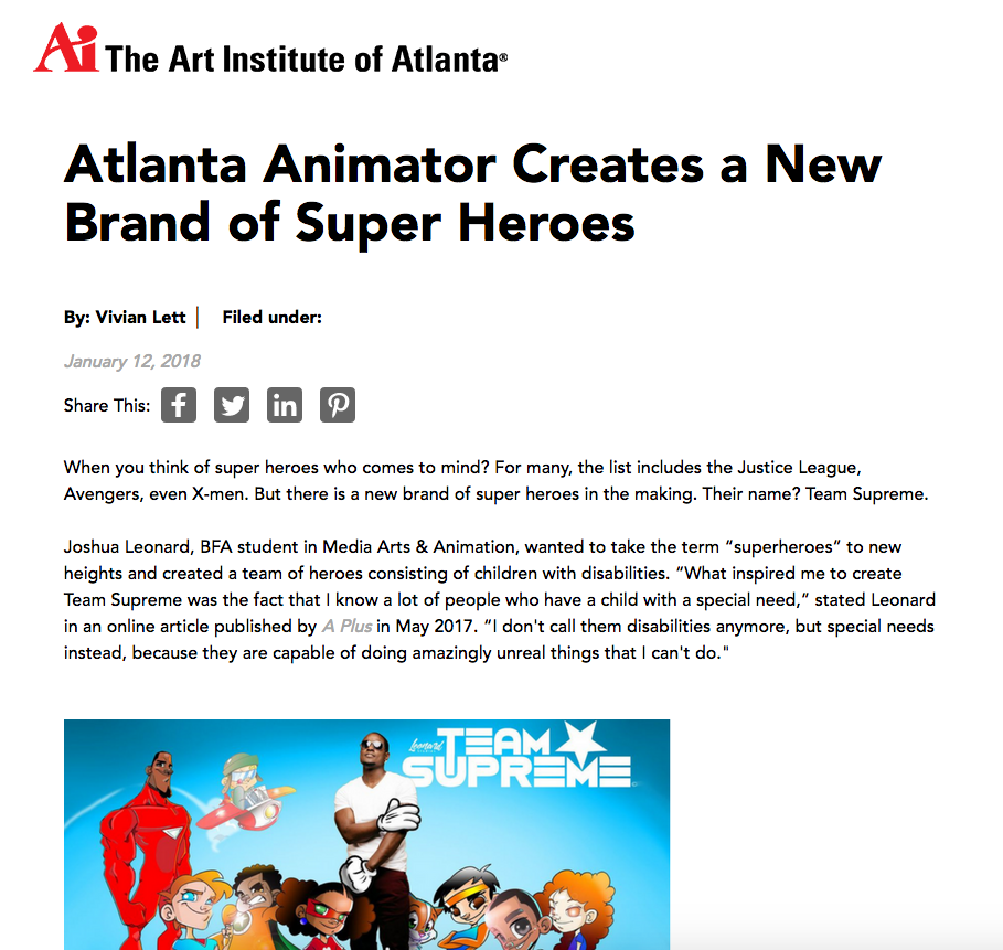 Art Institute of Atlanta 2018 - https://www.artinstitutes.edu/atlanta/about/blog/atlanta-animator-creates-a-new-brand-of-super-heroes