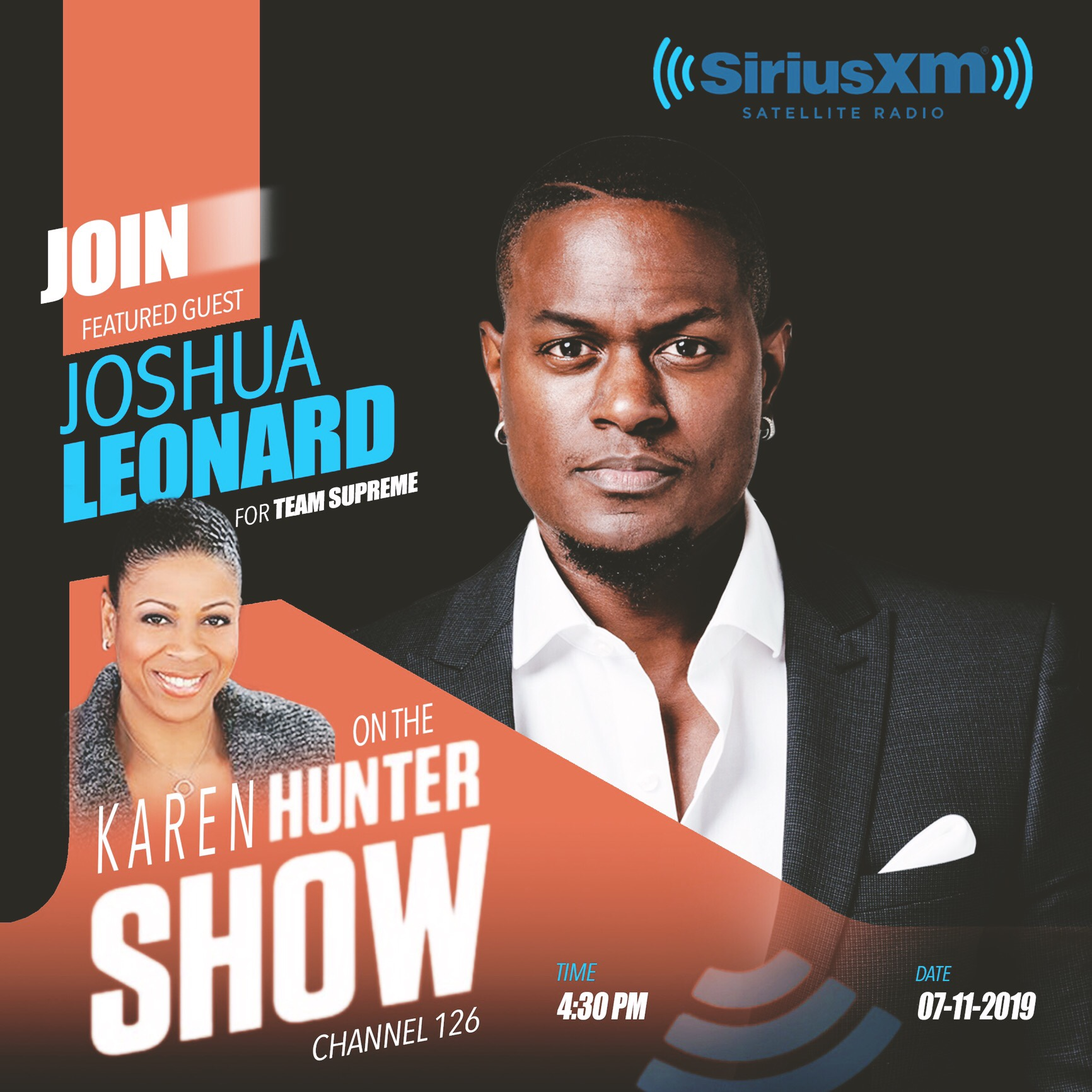 The Karen Hunter Show - Joshua Leonard is featured on The Karen Hunter Show discussing Team Supreme.