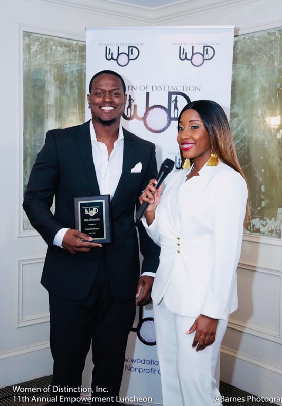 Women Of Distinction - Joshua Leonard was honored with the first 'Man Of Integrity' award.