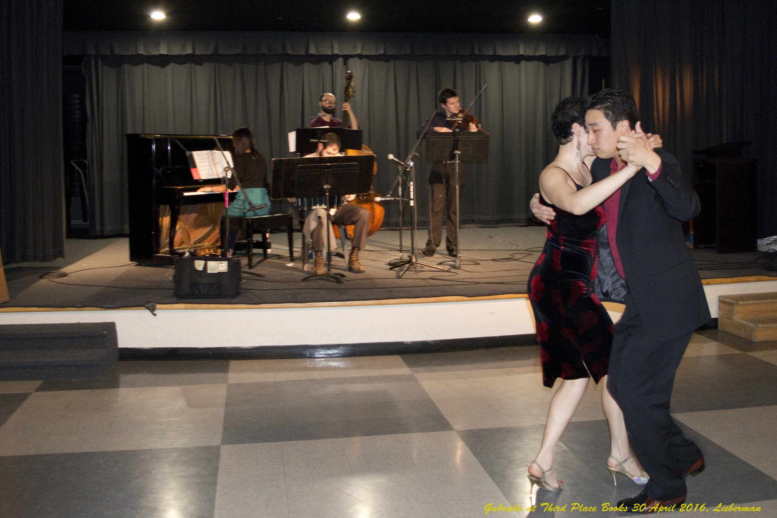 Performing with David Huh Live music by  Chicharra Tango