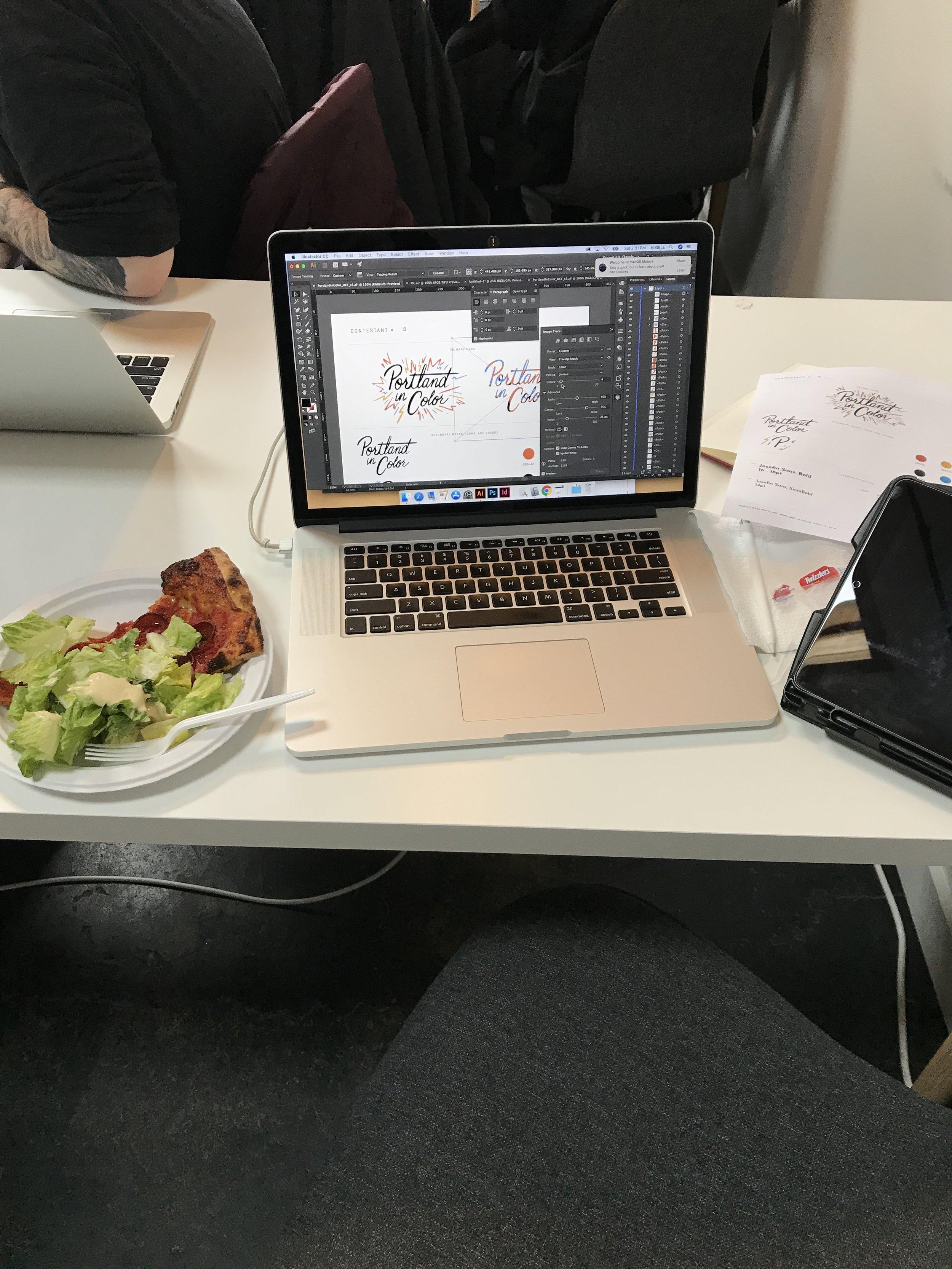 Brand design + pizza: a winning combo.