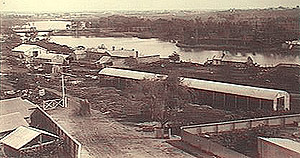 View from Adelaide over the River Torrens c1880.