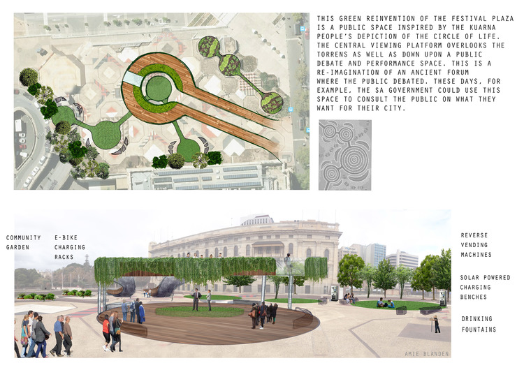 Design by Arnie Blanden -  just one of the several winning designs in the competition hosted by Greens MLC Mark Parnell.