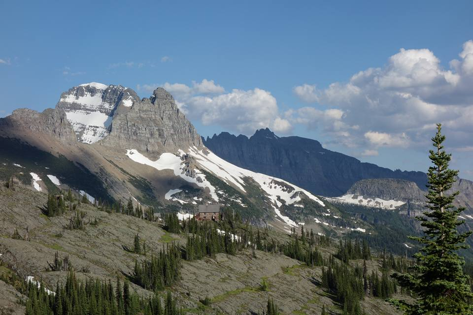 You know you're getting close to town when you can see this from your campsite (Granite Park Chalet)