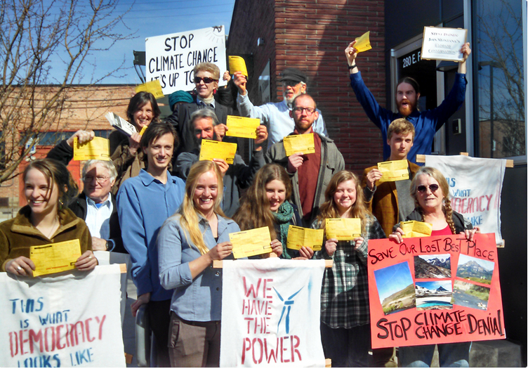 """Montanans exercising their First Amendment Rights: """"THIS IS WHAT DEMOCRACY LOOKS LIKE"""""""