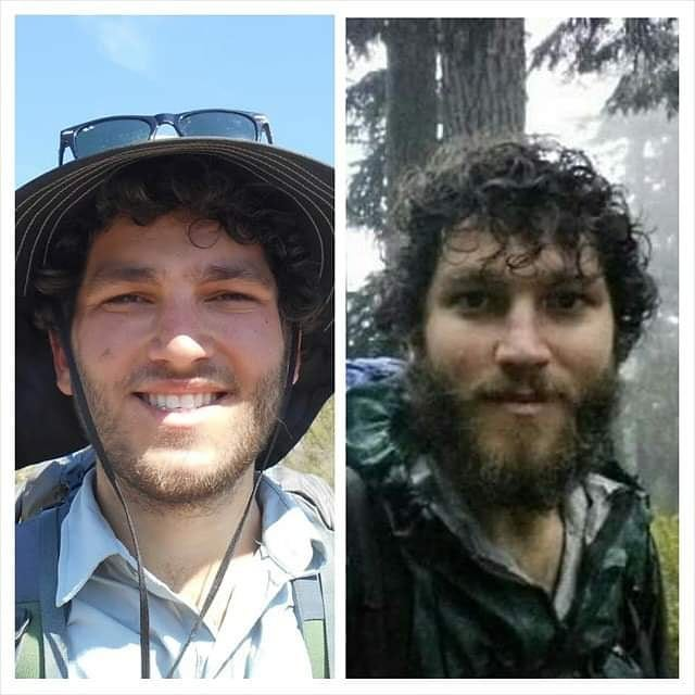 5 years! I know I just dragged y'all down this whole PCT memory lane but I'm a sucker for trailiversaries. Left: first day on Trail; Right: final day.⁣ ⁣ 5 years ago, by hiking the first mile of the PCT, I completed a rite of passage. It was not just the beginning of the Trail but the start of a much longer, more abstract journey toward the person I'm always working to become. That work has at times looked like immersion in the more than human world, practicing active listening, unlearning a whole mountain of toxic shit, re-learning how to healthily engage with my emotions, showing up and contributing my voice, time and energy. ⁣ Often it feels like I, along with our culture at large, have barely made any progress. But I think back to the kid I was when I clambered up the southern terminus monument: naive, overconfident, entitled and ignorant to the irony of hiking through la frontera for sport while so many folks walk that desert in hopes of a secure life at risk of death, incarceration, and having their families torn apart (meanwhile I received an outpouring of support, and the humans seeking refuge are demonized). I feel a twinge of shame for the person I was, but then I realize how much I've grown since. ⁣ ⁣ Here's hoping that trend not only continues but accelerates. ⁣ ⁣ #pacificcresttrail #pctig #hikethedivide #growth #trailiversary