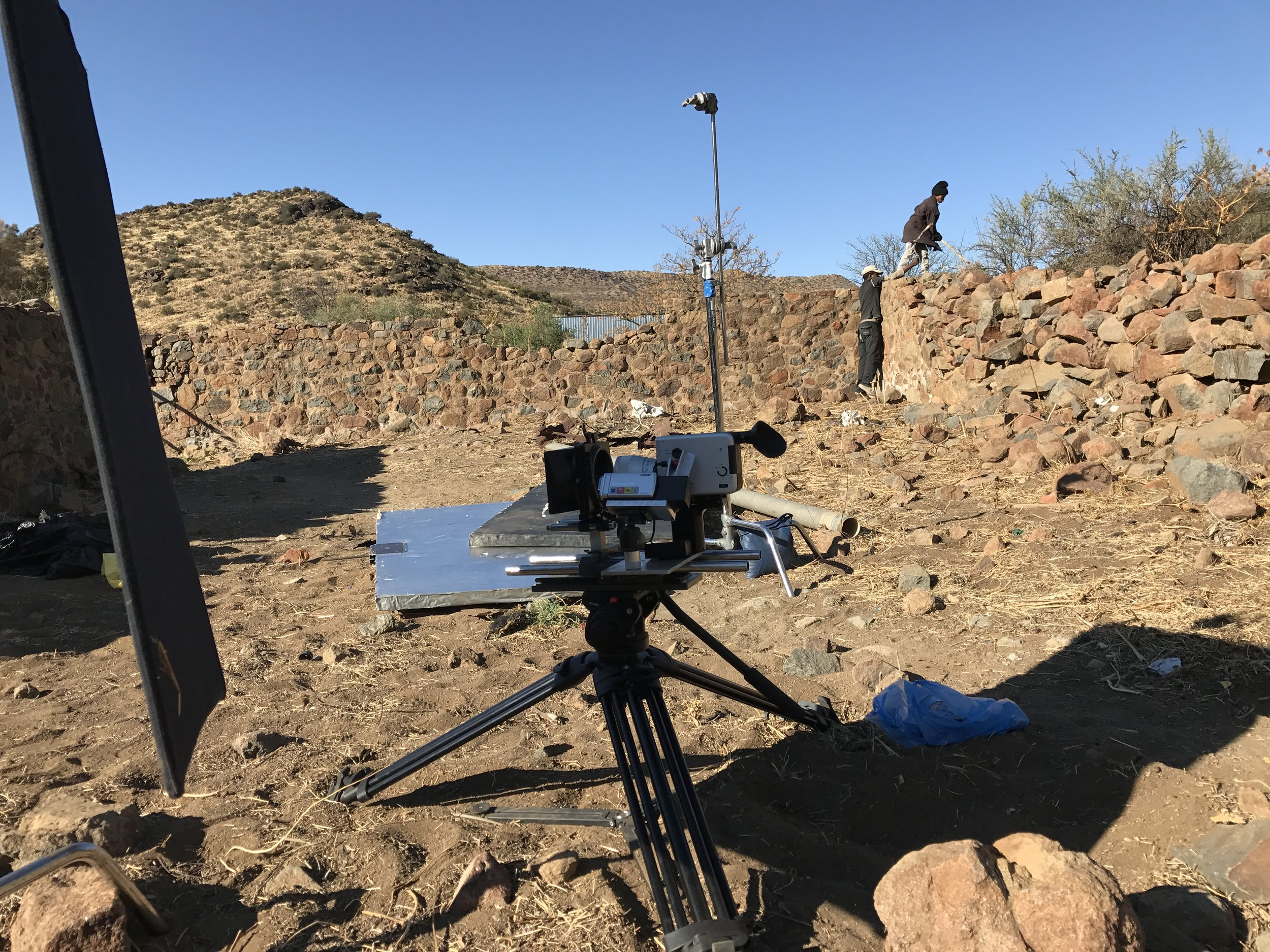 on location, about 800 km from cape town