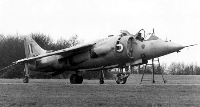 First development Harrier XV276