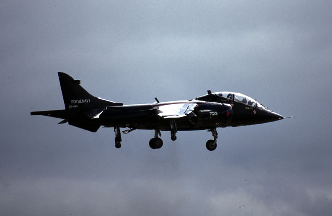 T Mk 8 ZD993/723VL of 899 NAS in black anti-collision colours (Author)