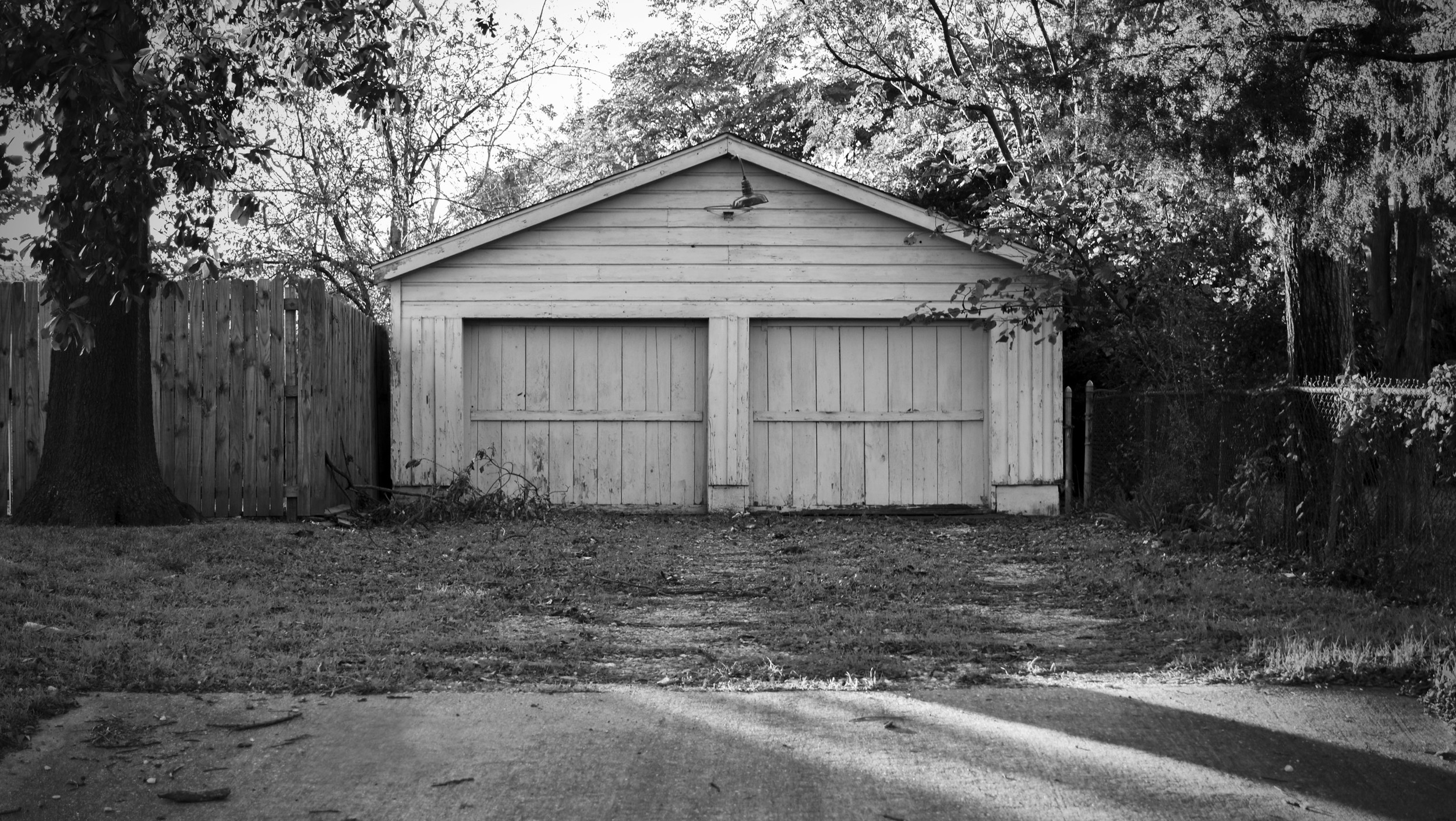 the garage as seen from Summit Avenue