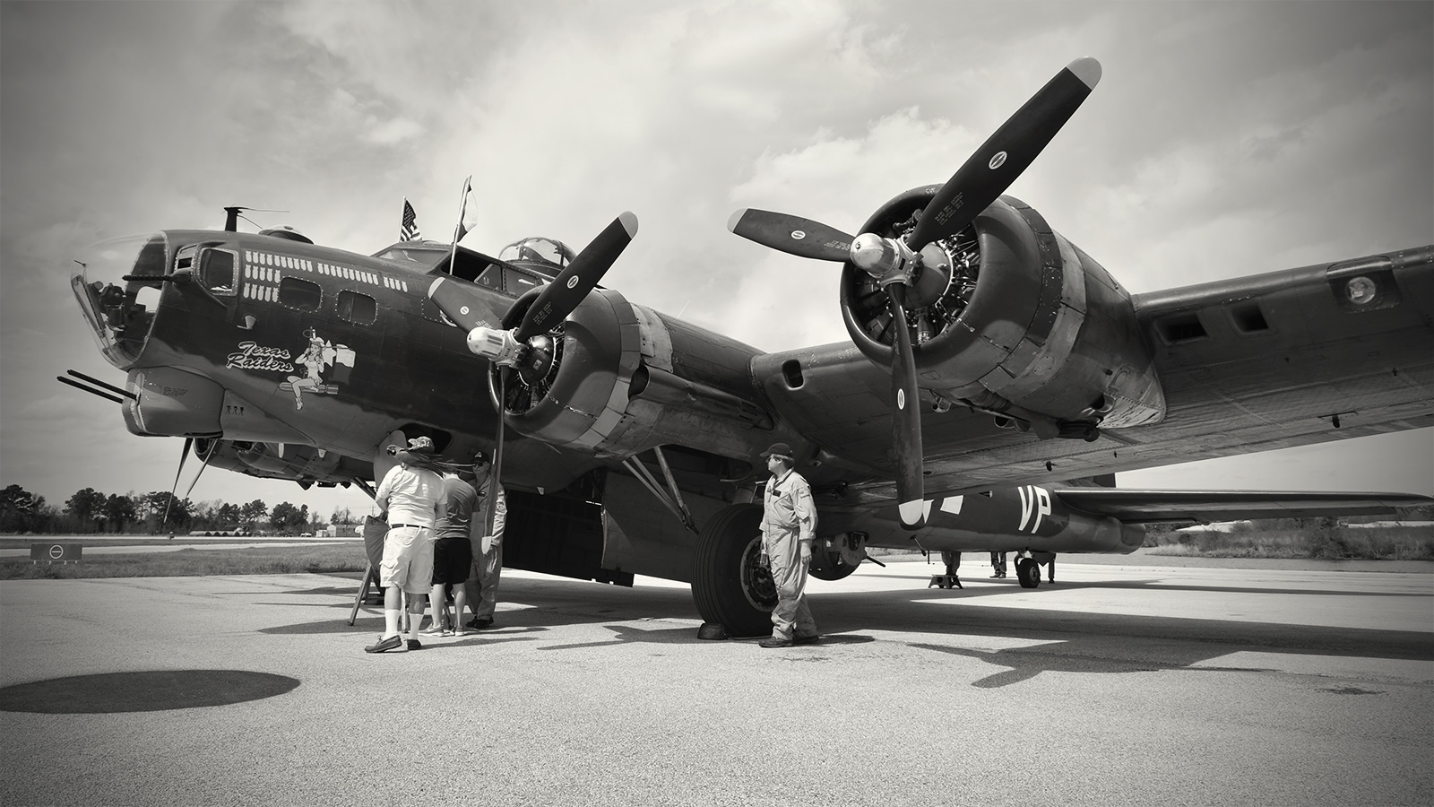 "the ""Texas Raiders"" B-17 (as flown by The Commemorative Air Force)"