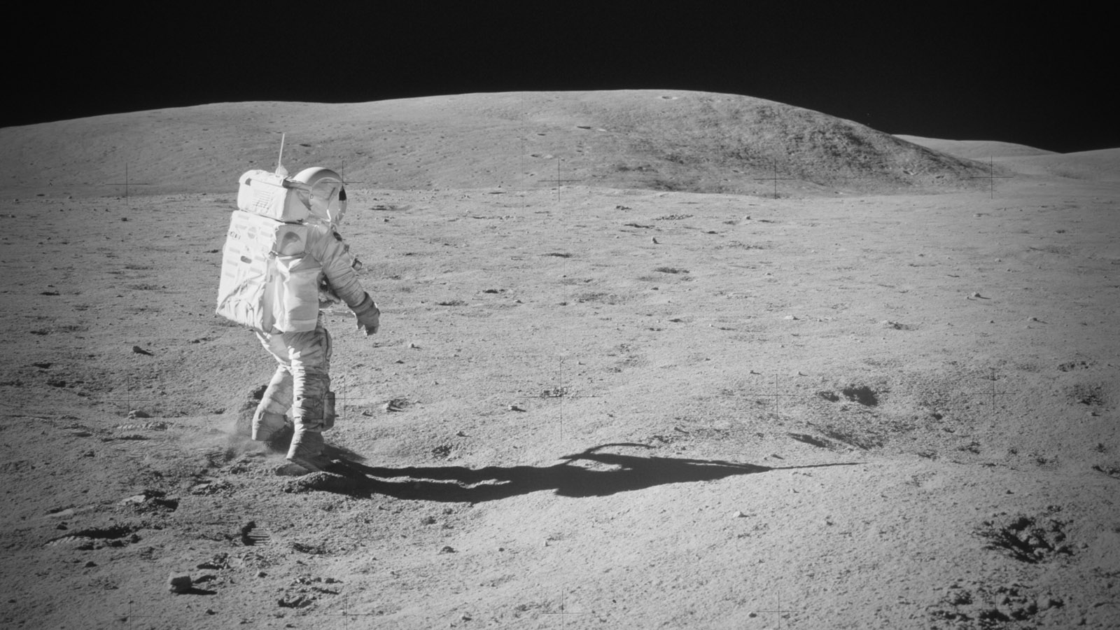 Charlie Duke on the Moon. (image courtesy NASA)