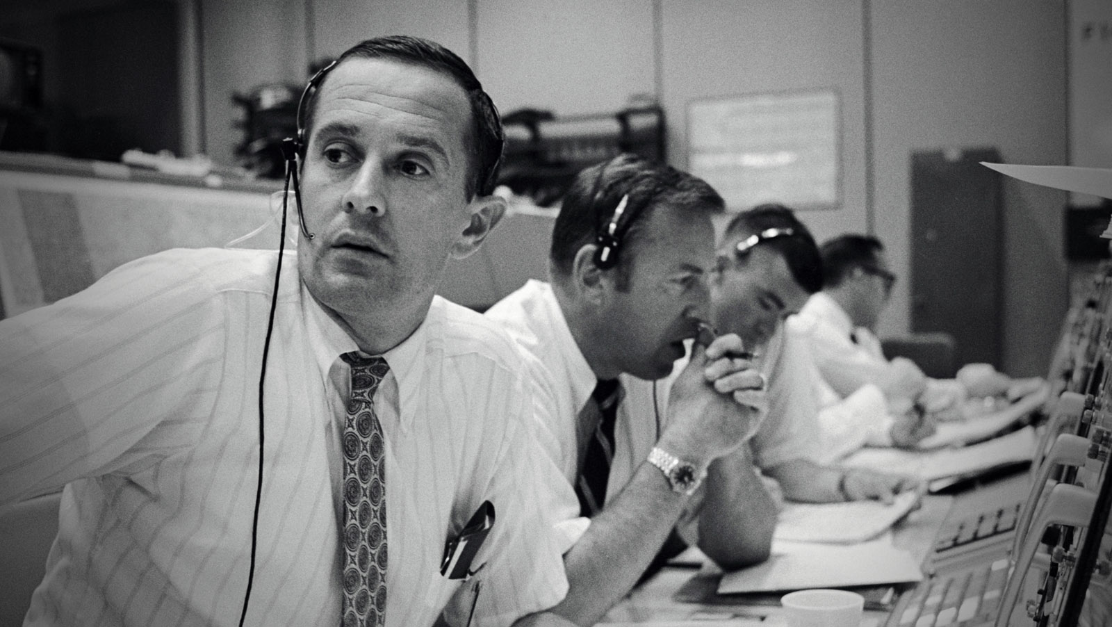 Charlie Duke at Mission Control in 1969. (image courtesy NASA)