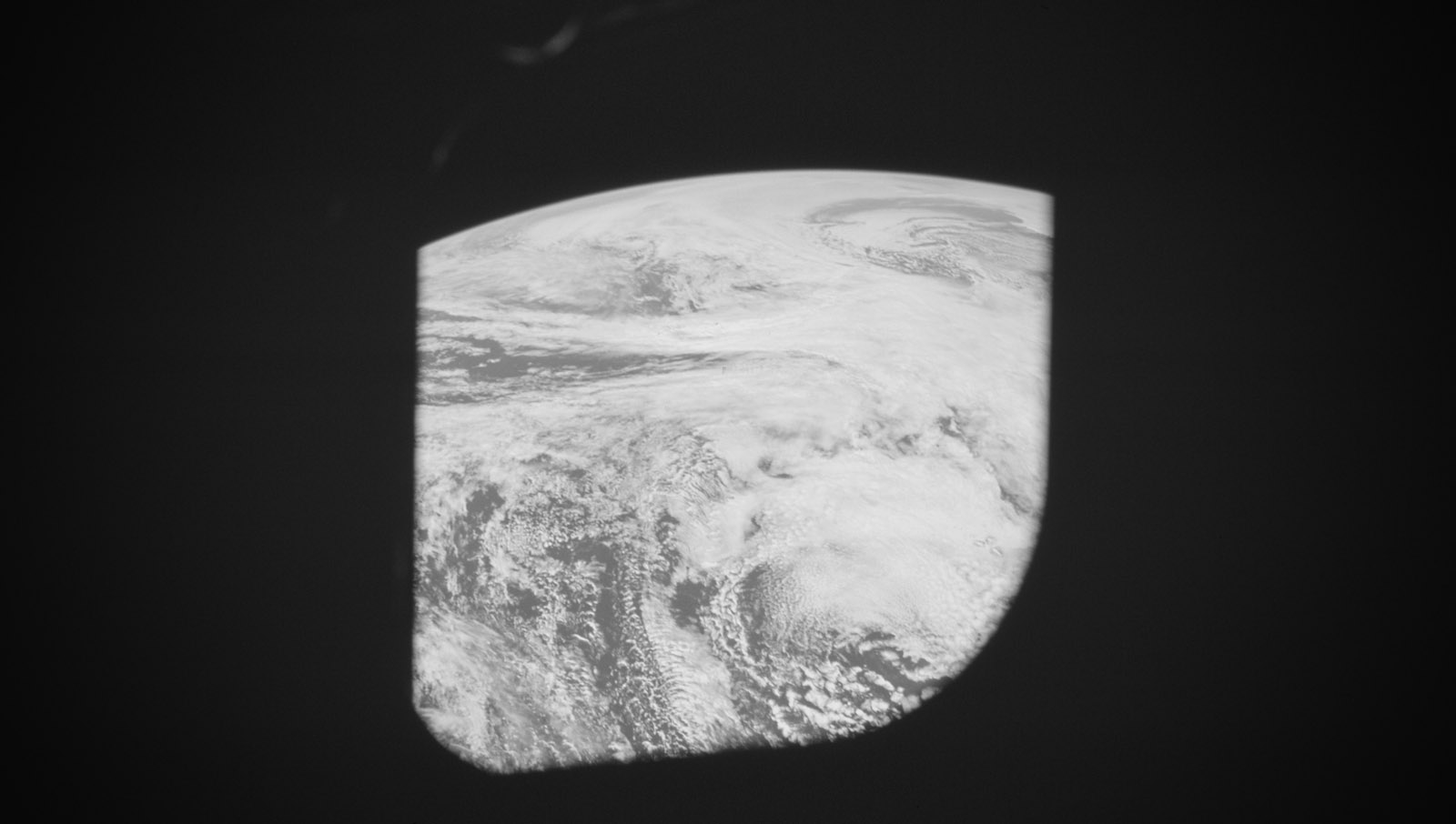 The view of Earth from the Command Module. (image courtesy NASA)