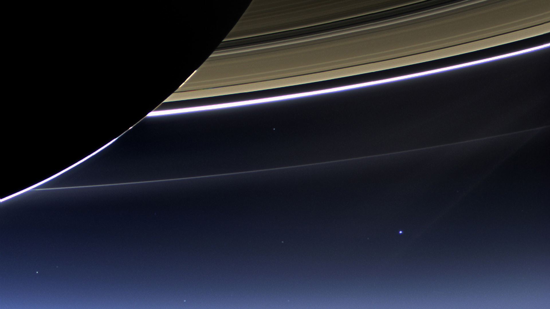 you are here, on the pale blue dot in the lower right hand corner of this image courtesy NASA