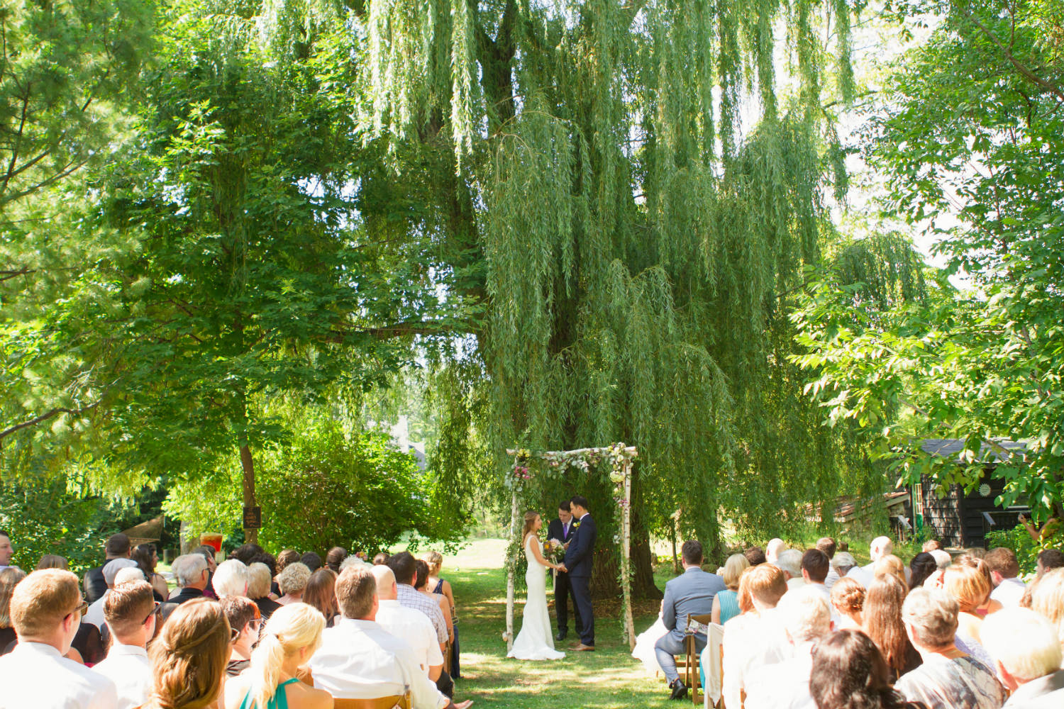 """""""We immediately fell in love with Beamer Falls Manor after physically visiting 15 other wedding venues all over Ontario! If you're looking for a venue that allows you to fully be you...look no further..."""" - ALINA KOZIAK, BEAMER BRIDE JULY 2016"""