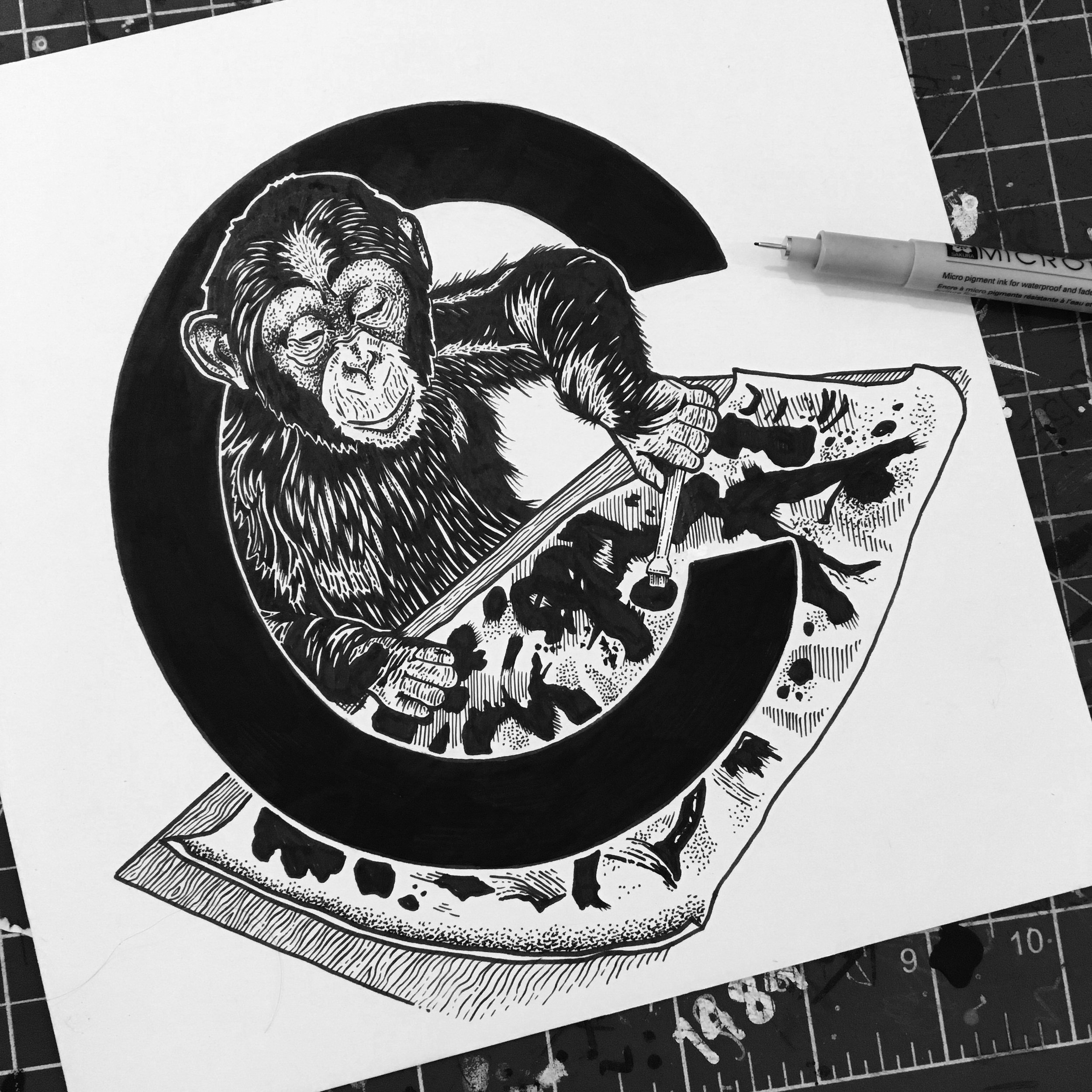 Congo the Chimpanzee - famous for being able to draw and paint.