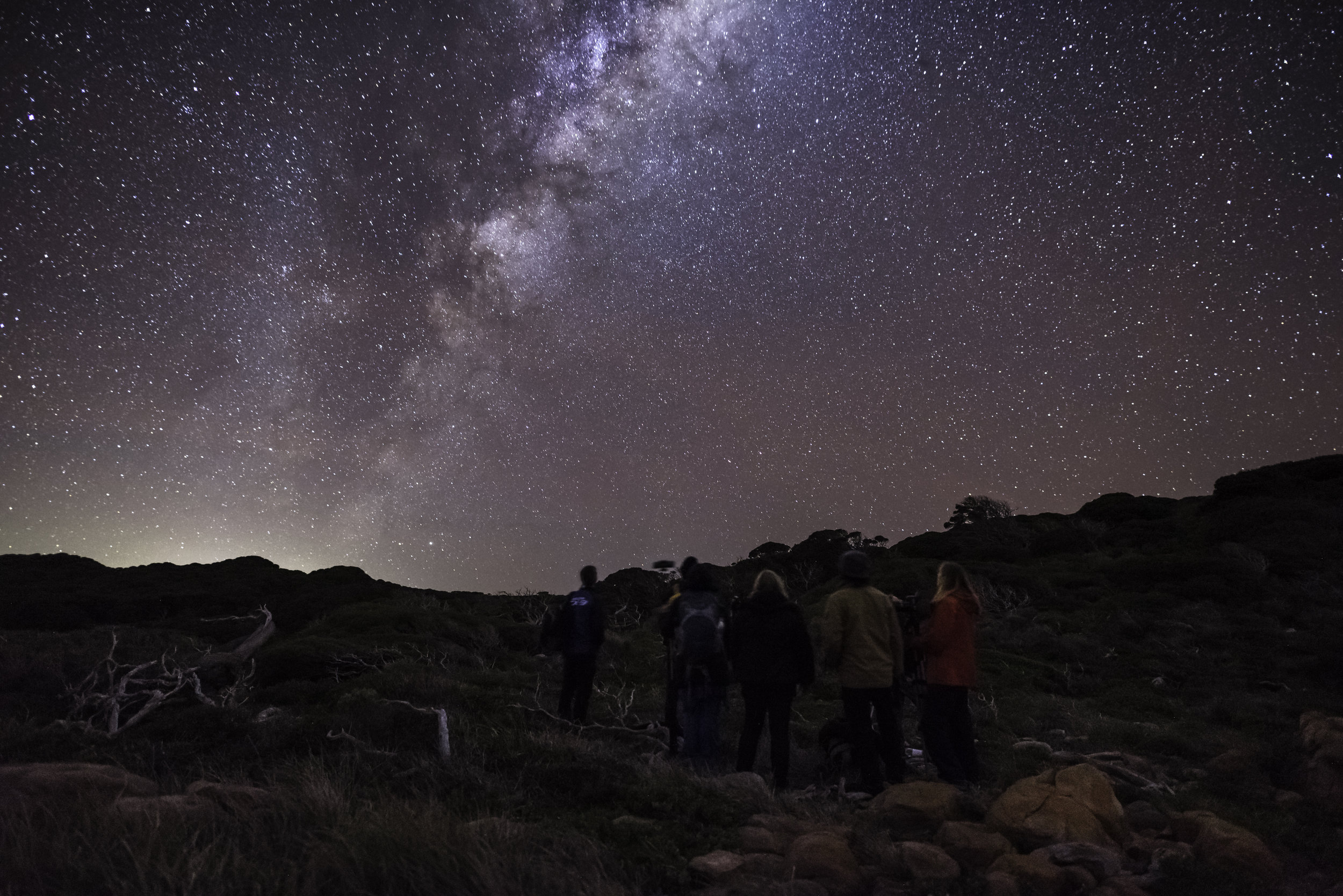 Looking up at the Milky Way from WIlyabrup Cliffs, Margaret River, during last retreat in June 2017.