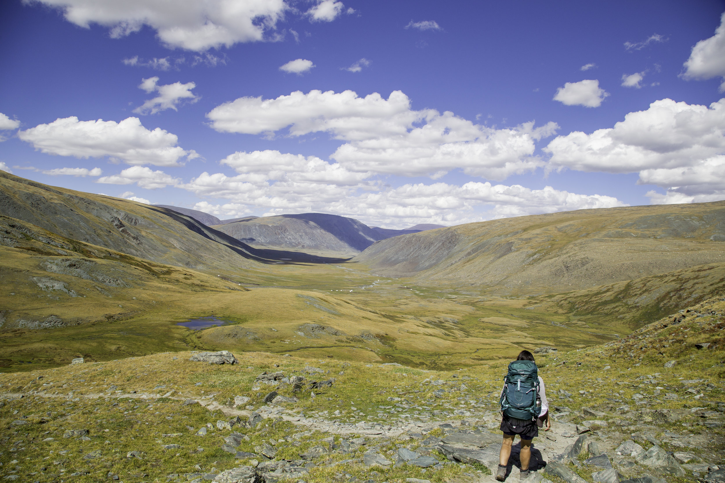 Tavan Bogd National Park, a walkers paradise in Mongolia's northwest. Photo  Morgan Gillham .