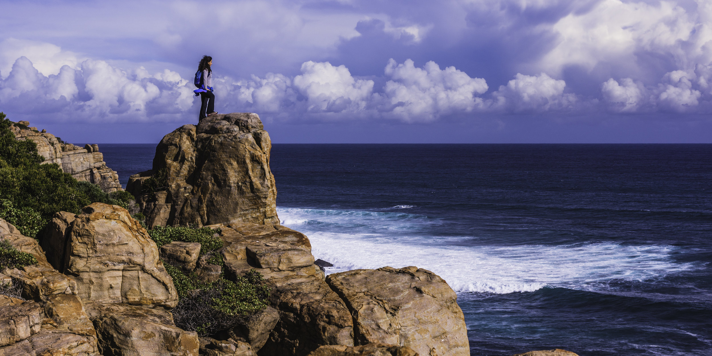 Looking at the big picture on the Cape to Cape Track - southwest Western Australia