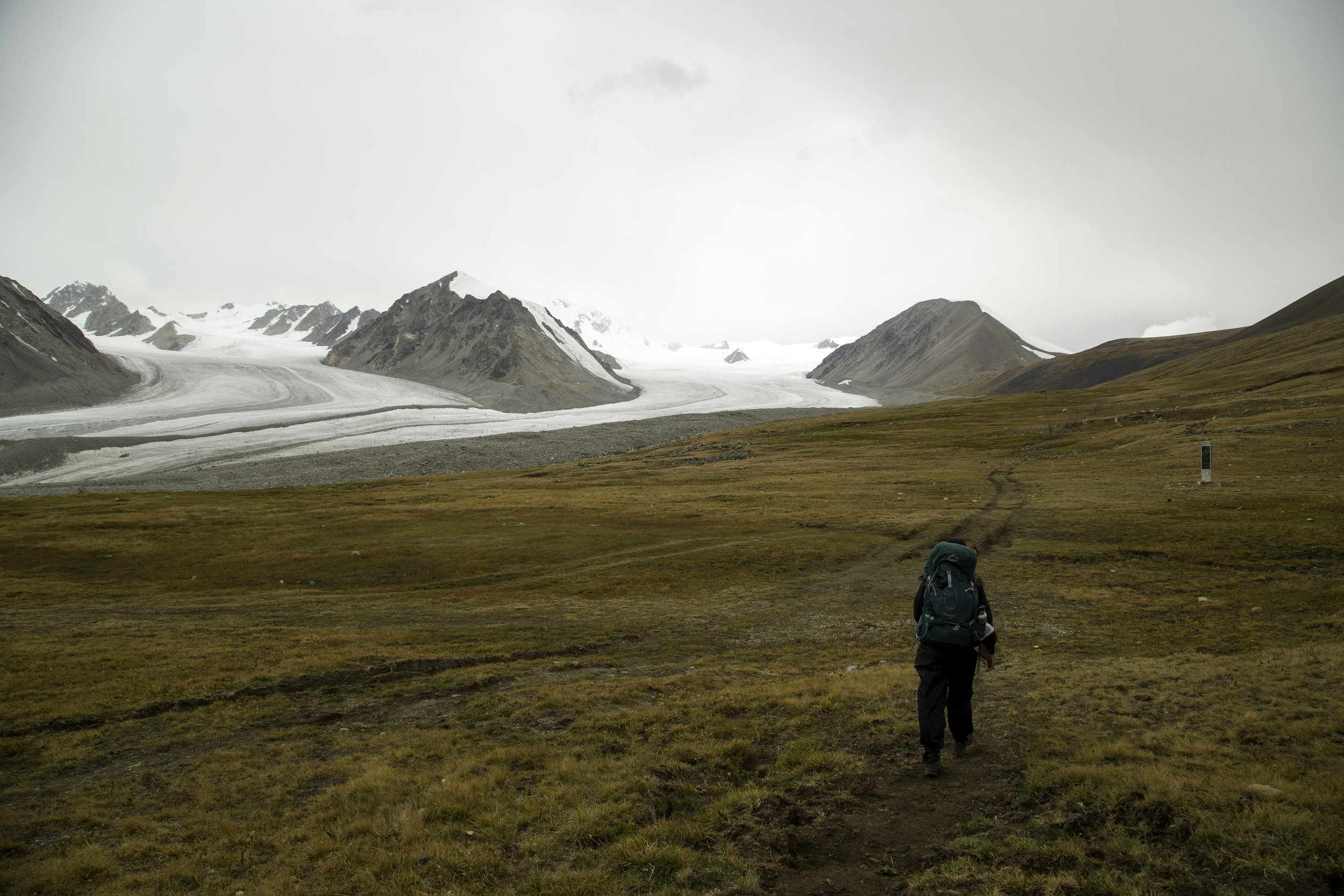 Walking to base camp - Tavan Bogd National Park - Mongolia