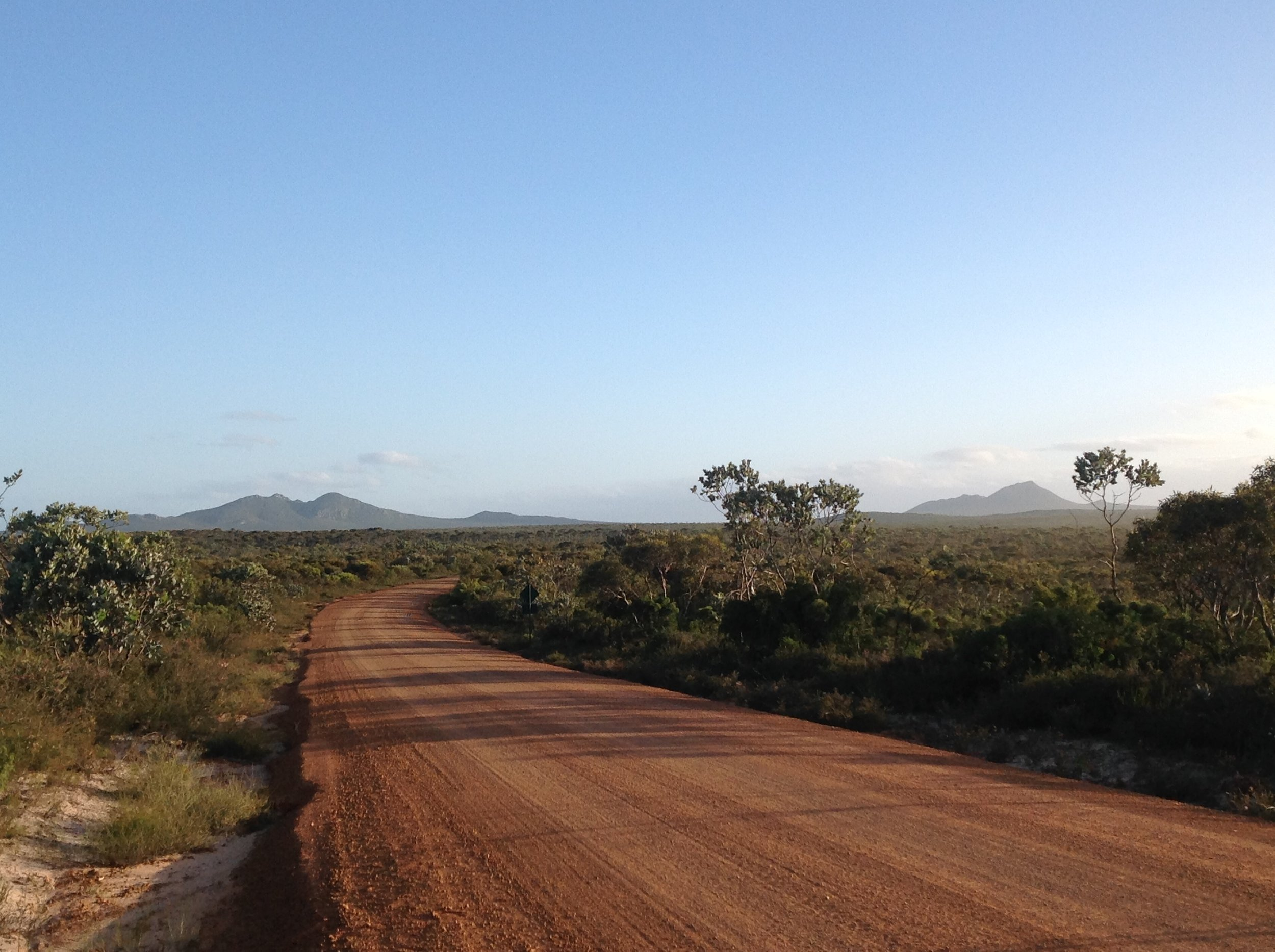 West Mt Barren in the distance...dirt road leading to Point Anne on the west side of the National Park