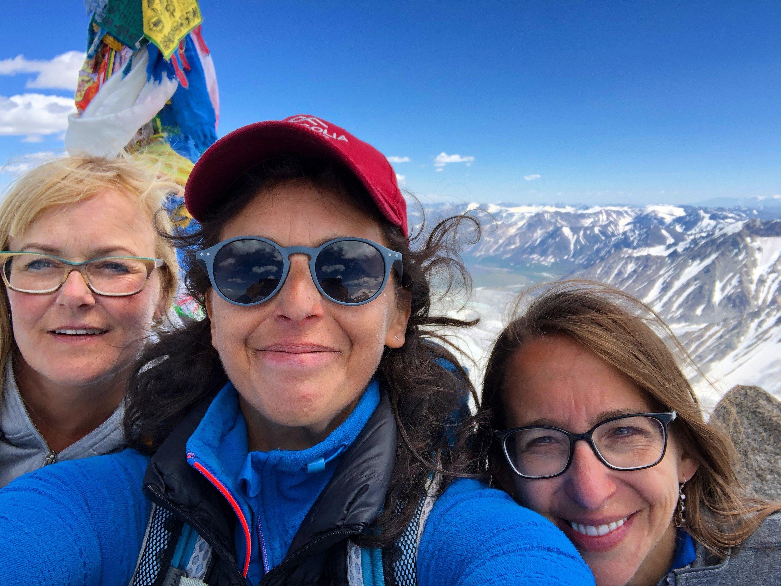 Climbing Malchin Peak in the Tavan Bogd National Park , northwest Mongolia with these two badass women - definitely a highlight.