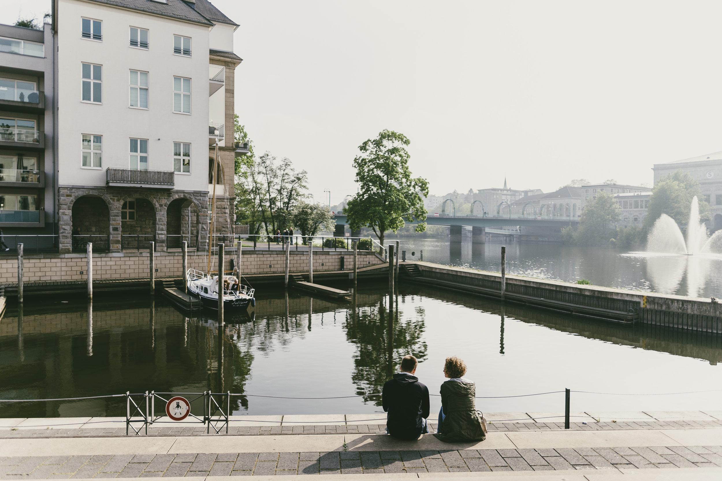 Flanieren an der Ruhr – - die einzige Innenstadt einer großen Ruhrstadt, die tatsächlich an der Ruhr liegt!