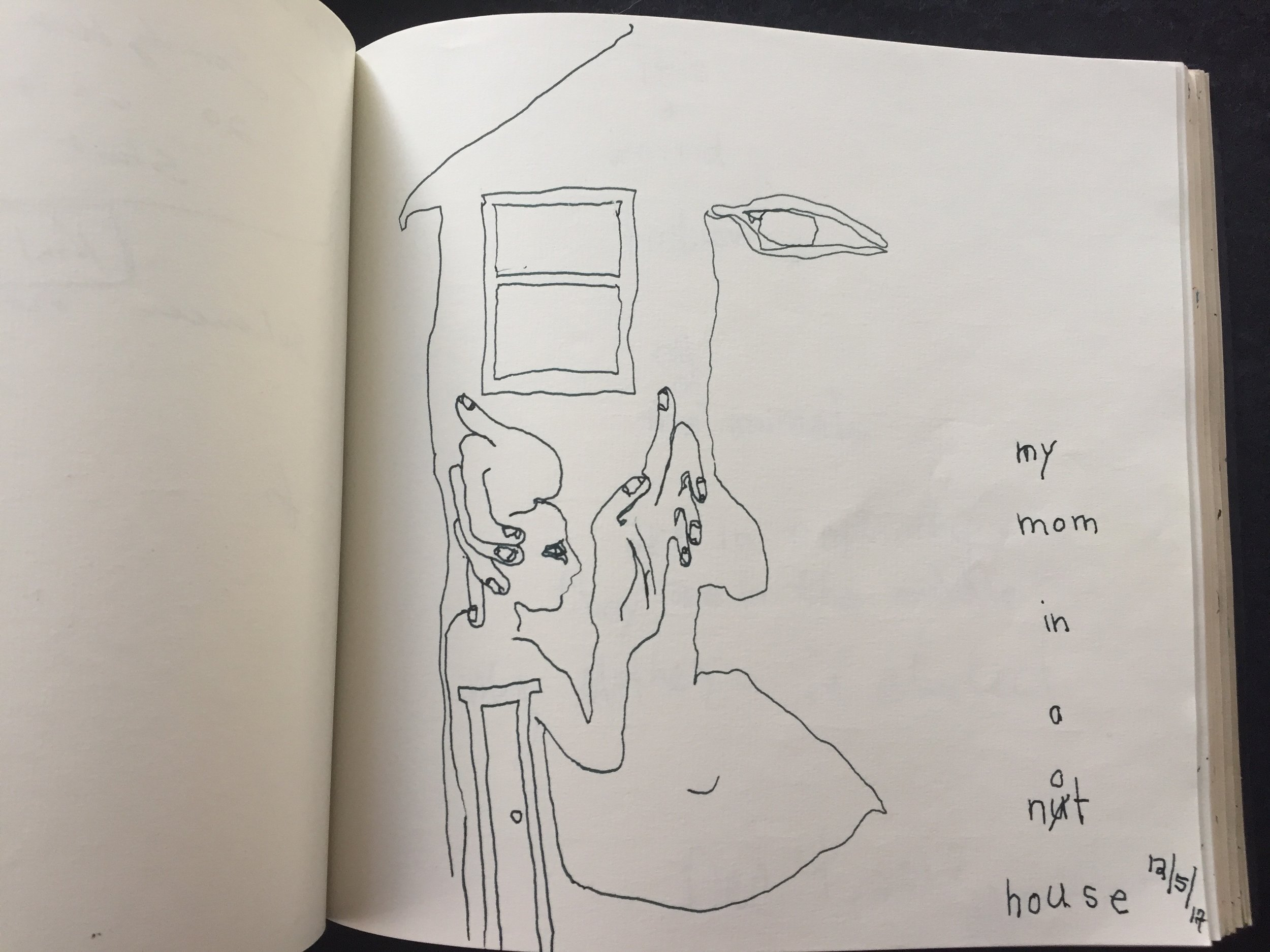 sketch book my mom in a nut_not house.jpg
