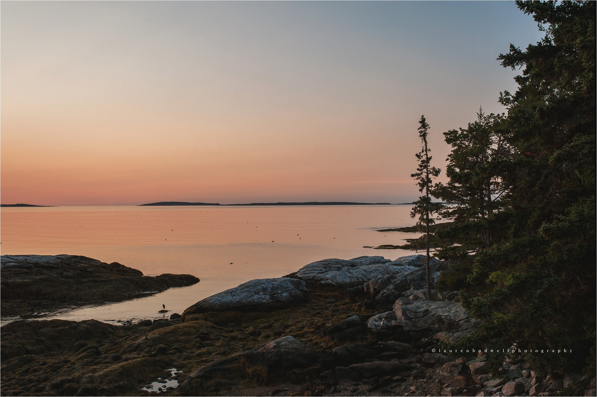 sunrise over boothbay