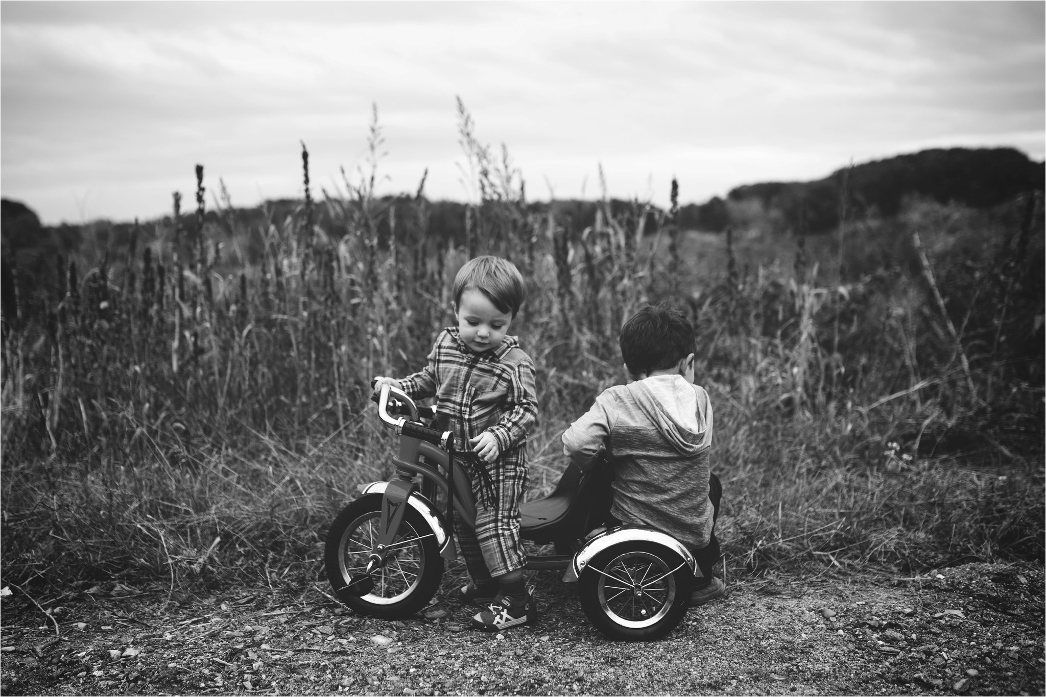 brothers on a bike
