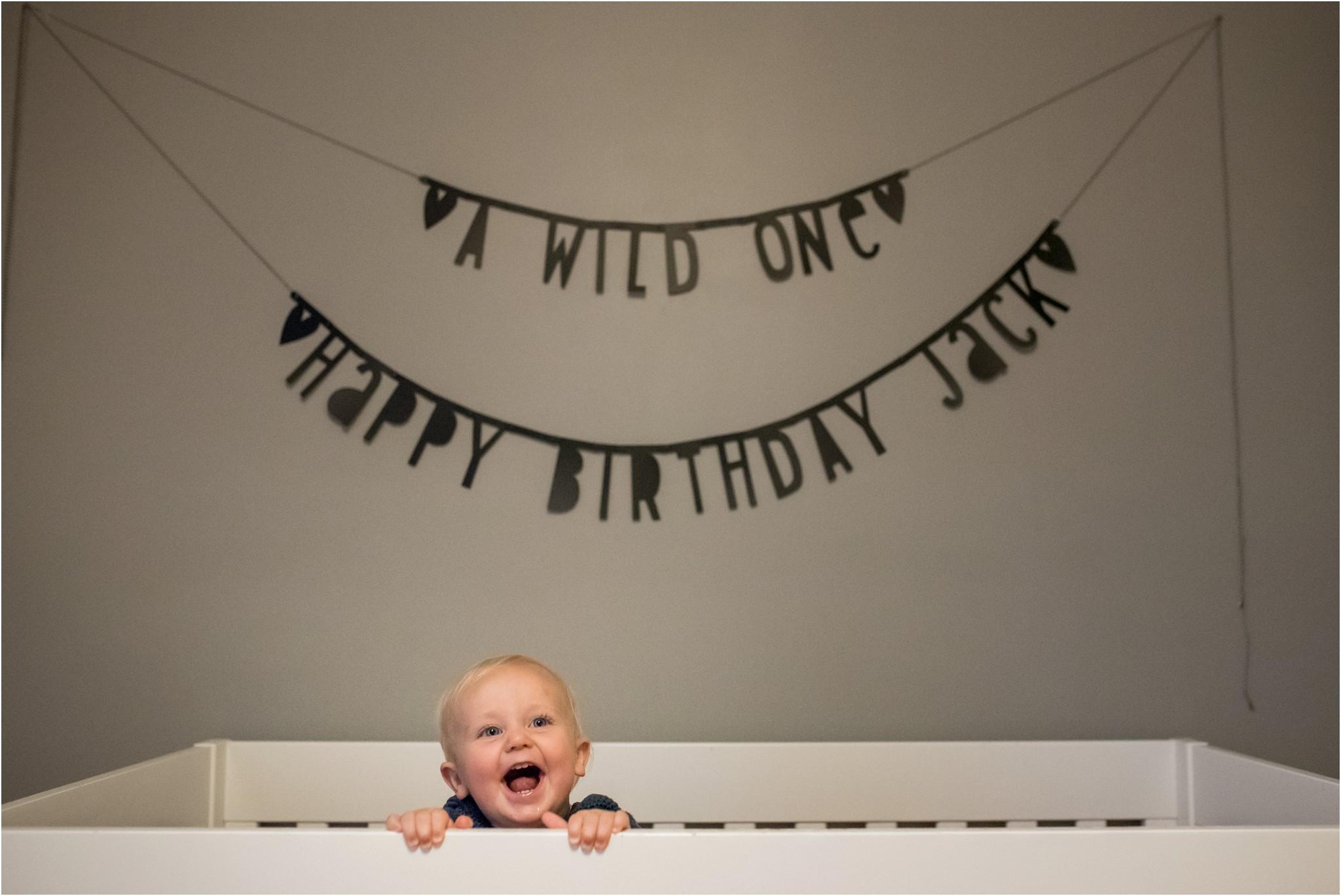 little boy in his crib