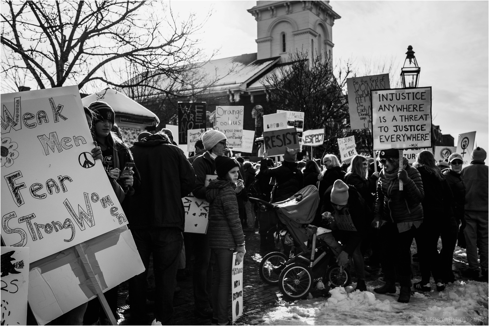 people gathered in portsmouth market square