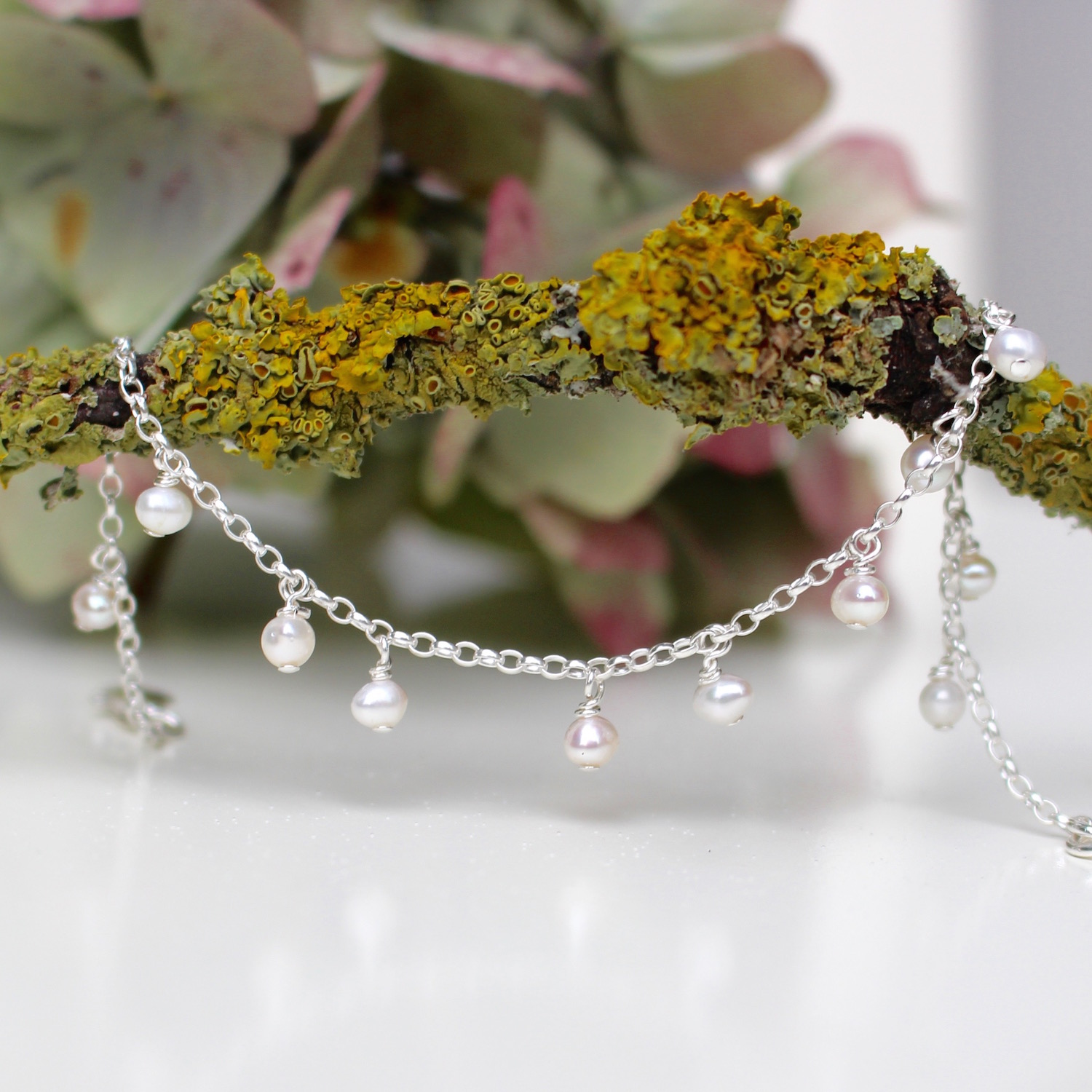 Pearl Droplets Necklace by Nina Parker
