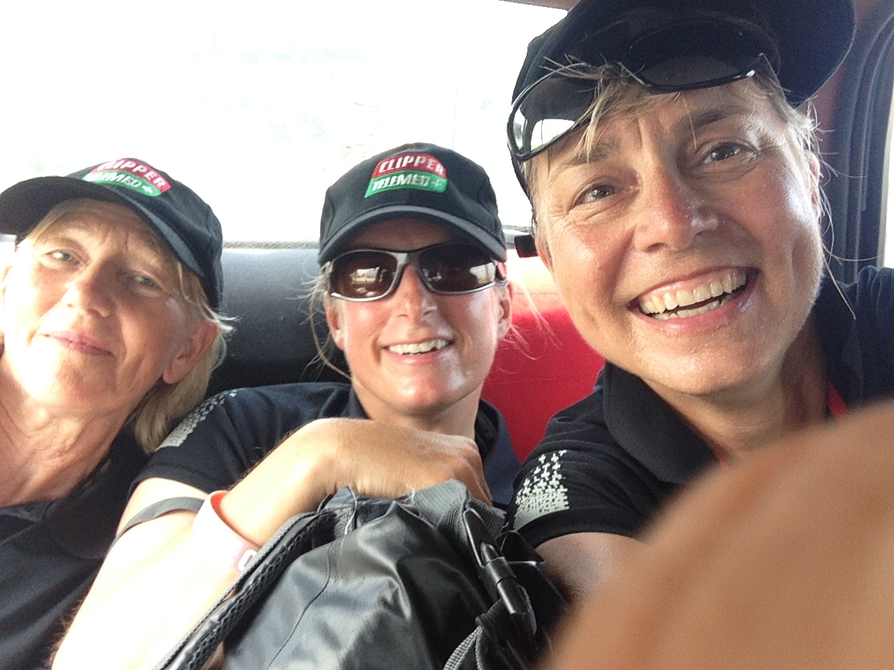 Piled into a taxi headed for the Best Western in Panama City :-D