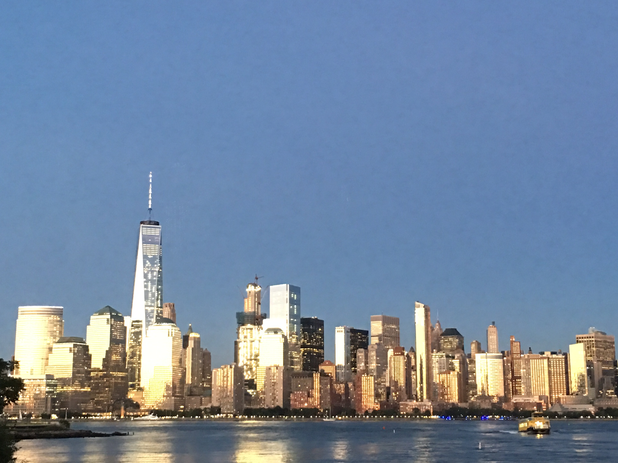 Twilight view of NYC from NJ side of Hudson