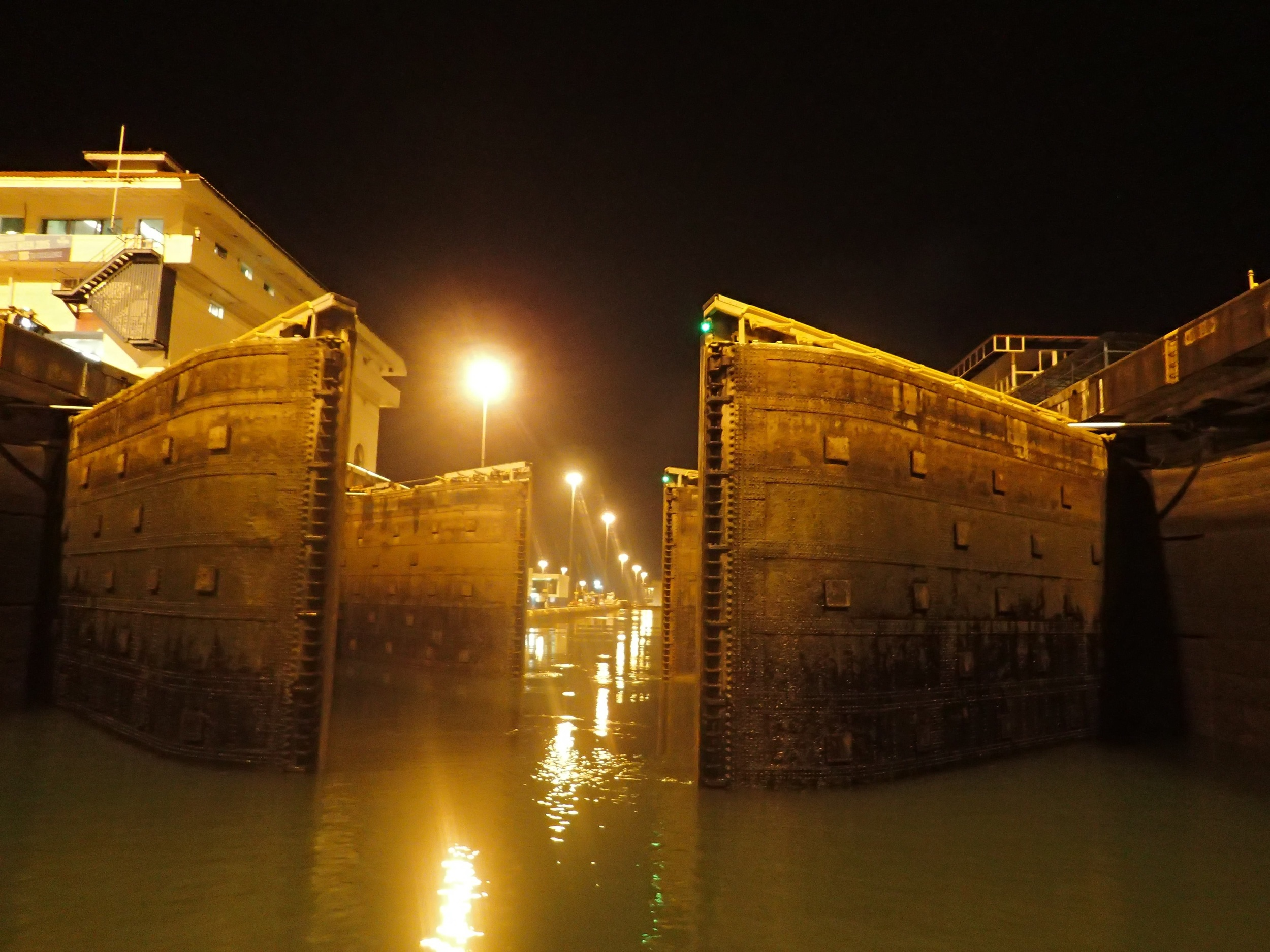 Han's award winning photo - Panama Canal logistics.