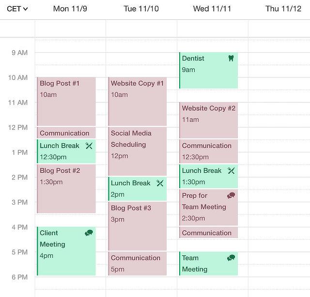 Freelancer tools: Google Calendar & Sunrise