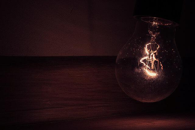 old lightbulb going dim