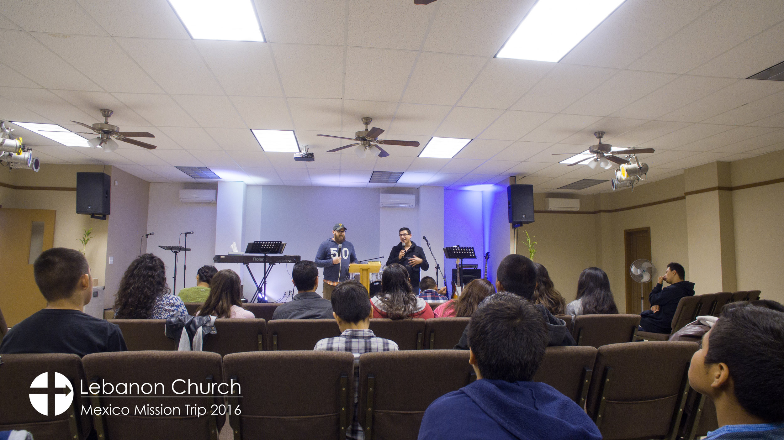 Zack preaching at the youth program
