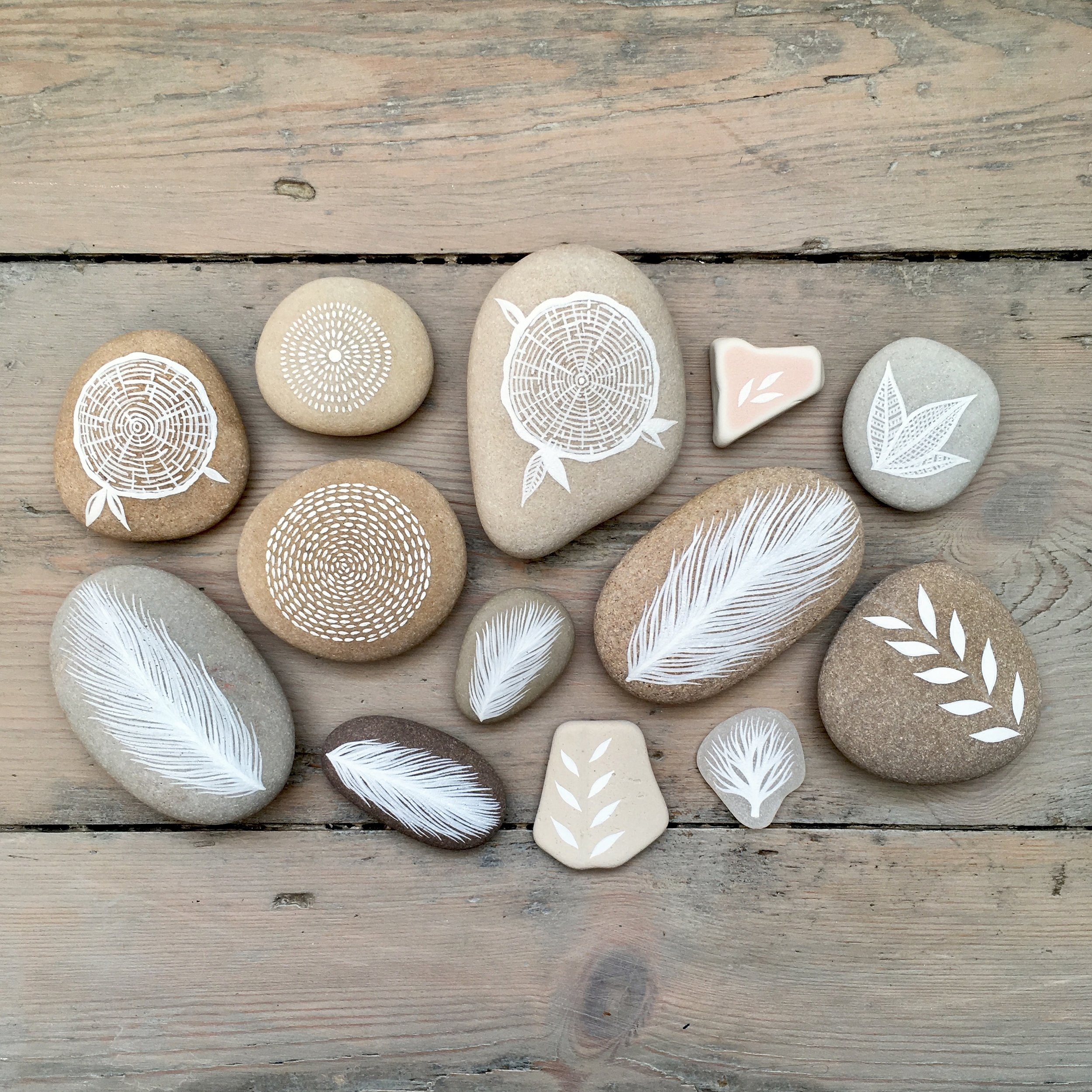 Painted Stones, Sea Glass & Beach Pottery