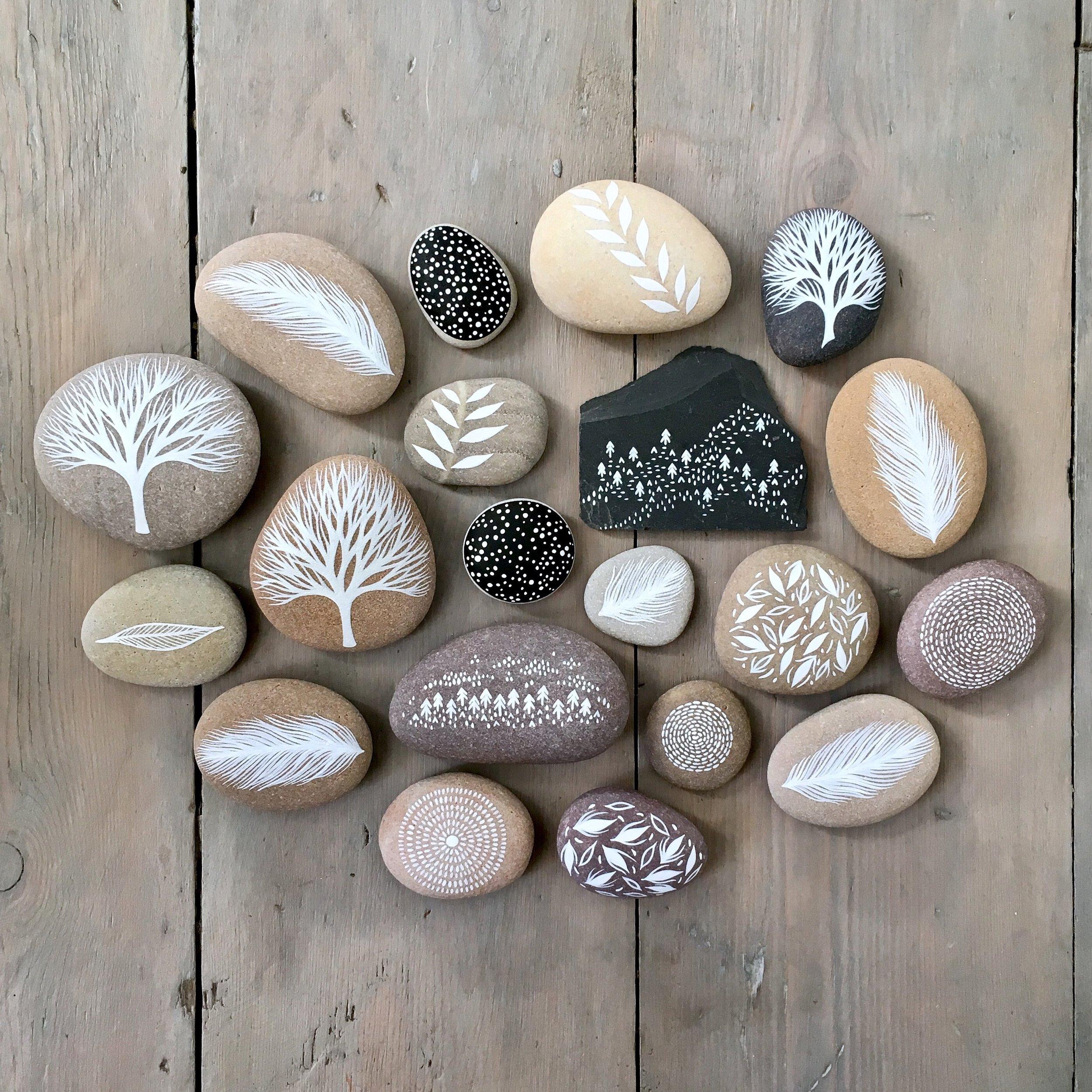 Painted Stones & Slate