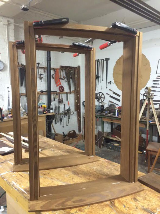 mahogany window frames