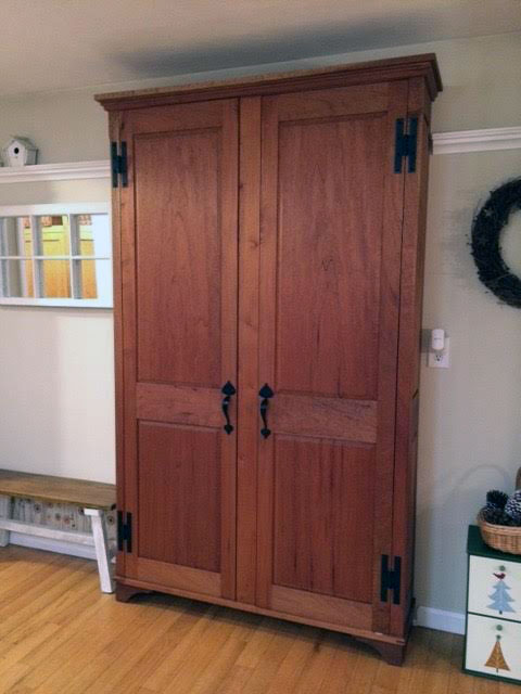 custom built pantry cabinet
