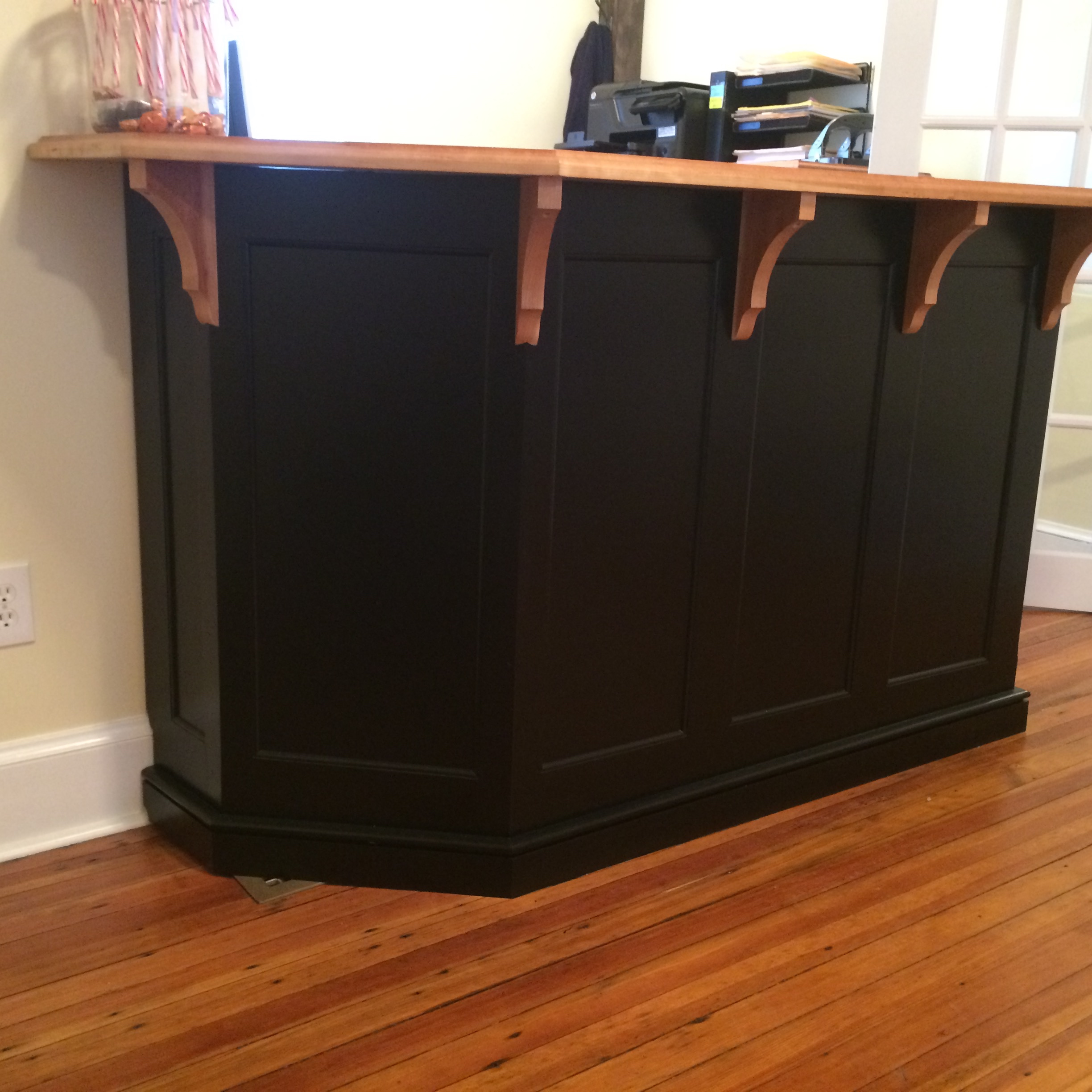 custom built counter / desk