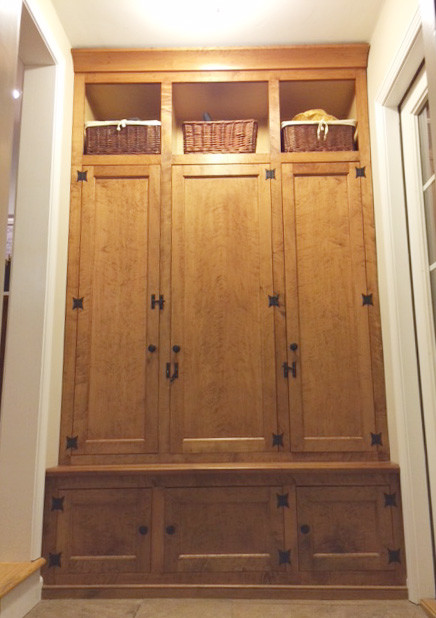 maple mudroom storage