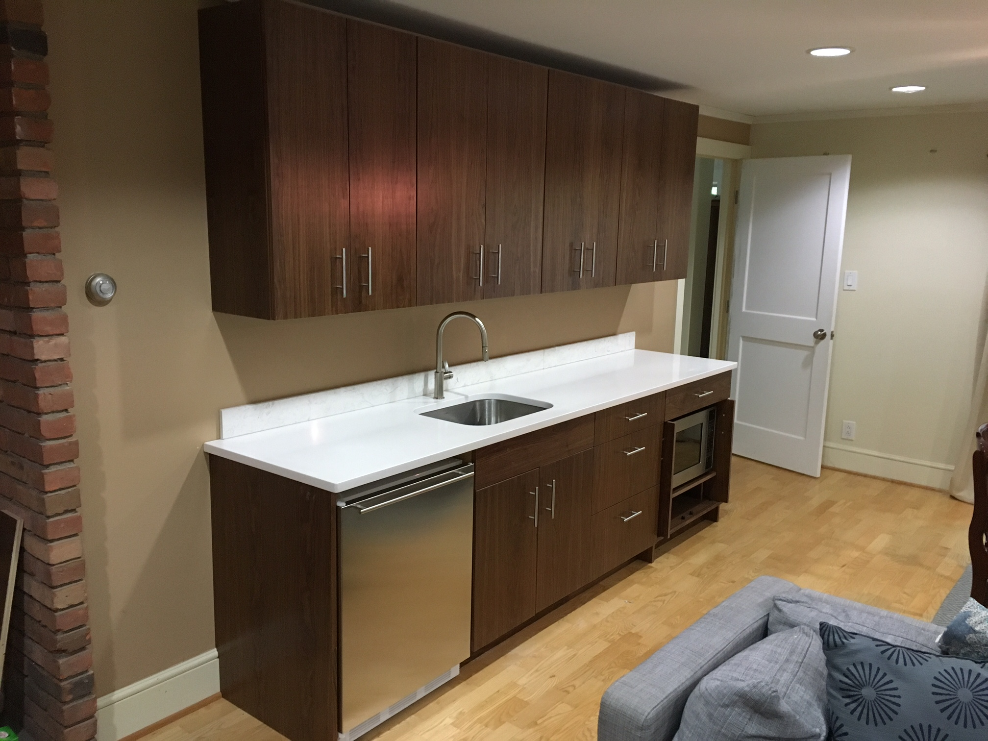 walnut kitchenette