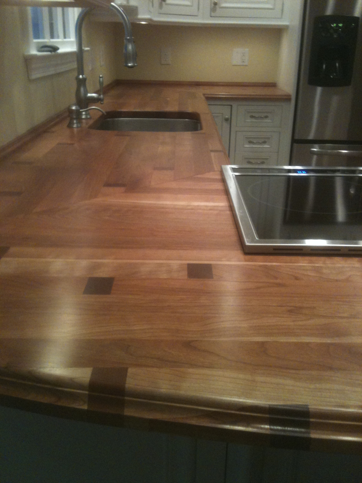 custom cherry countertop